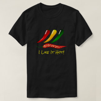 "Colorful Hot Peppers & ""I Like It Hot"" T-Shirt"