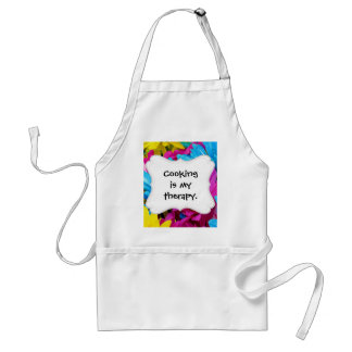 Colorful Hot Pink Teal Blue Gerber Daisies Flowers Standard Apron