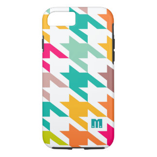 Colorful Houndstooth Geometric Pattern iPhone 7 Case
