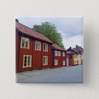 Colorful houses, Lotsgatan, Södermalm, Stockholm 15 Cm Square Badge