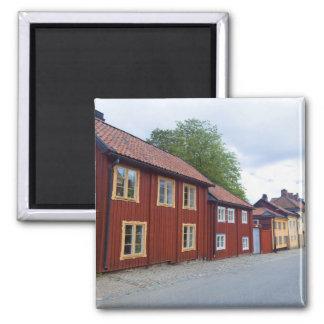 Colorful houses, Lotsgatan, Södermalm, Stockholm Magnet