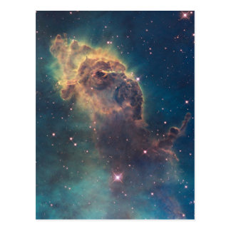 Colorful Hubble Space Telescope Carina Nebula Postcard