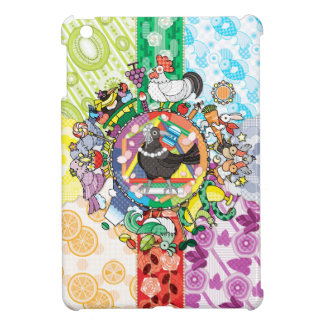 Colorful hue circle gradation and black and white iPad mini case