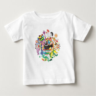 colorful hue circle gradation with black and white baby T-Shirt