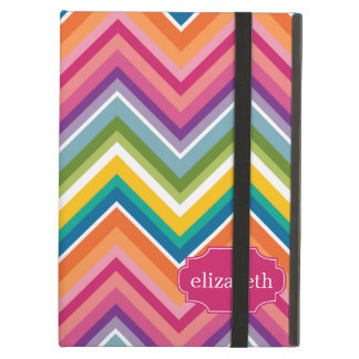 Colorful Huge Chevron Pattern with name Case For iPad Air