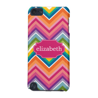 Colorful Huge Chevron Pattern with name iPod Touch (5th Generation) Cover