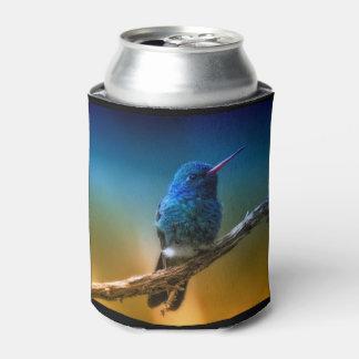 Colorful Hummingbird Custom Can Cooler