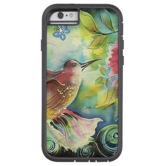 Colorful Hummingbird Silk Art Painting Tough Xtreme iPhone 6 Case