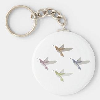 Colorful Hummingbirds Keychain