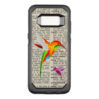 Colorful Hummingbirds on Vintage Dictionary Page OtterBox Commuter Samsung Galaxy S8 Case