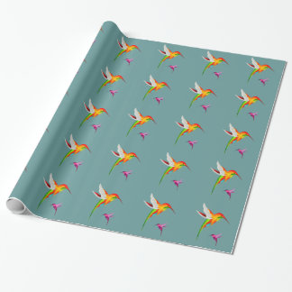 Colorful Hummingbirds Wrapping Paper