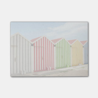 Colorful Huts On Beach Post-it Notes