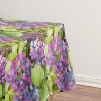 Colorful Hydrangeas Floral Tablecloth