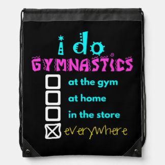 Colorful - I Do Gymnastics Everywhere Drawstring Bag