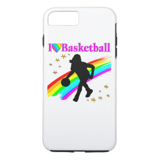 COLORFUL I LOVE BASKETBALL DESIGN iPhone 7 PLUS CASE