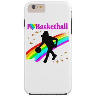 COLORFUL I LOVE BASKETBALL DESIGN TOUGH iPhone 6 PLUS CASE
