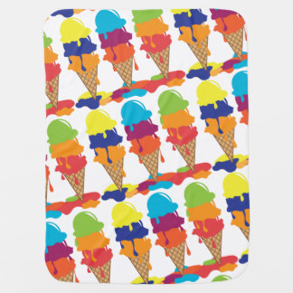 Colorful Ice Cream Baby Blanket