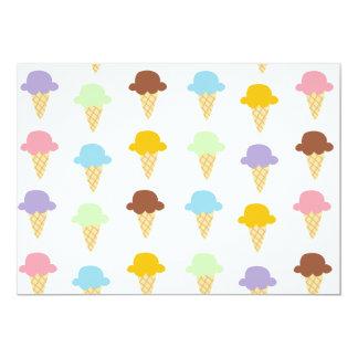 Colorful Ice Cream Cones 13 Cm X 18 Cm Invitation Card