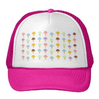 Colorful Ice Cream Cones Trucker Hat