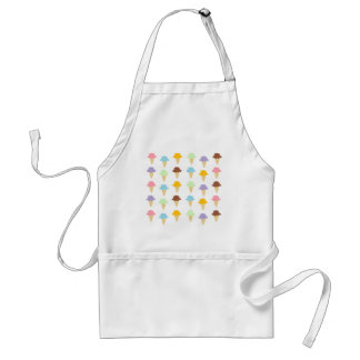 Colorful Ice Cream Cones Standard Apron