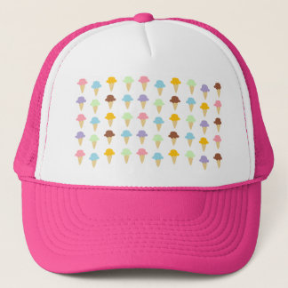 Colorful Ice Cream Cones Trucker Hat