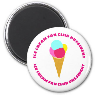 Colorful ice cream magnet