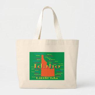 Colorful Idaho State Pride Map Tote Bag