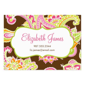 Colorful Illustrated Bohemian Paisley Henna Business Cards