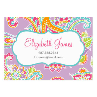 Colorful Illustrated Bohemian Paisley Henna Pack Of Chubby Business Cards