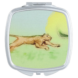 Colorful illustrated compact mirror  -  Chase