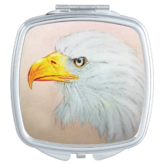 Colorful illustrated compact mirror  - Eagle
