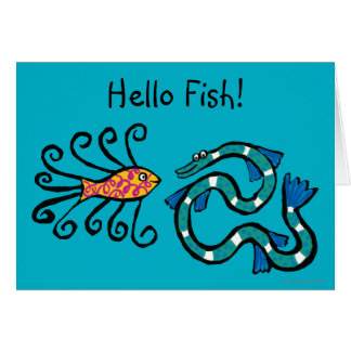 Colorful Illustrated Fish Friends Card