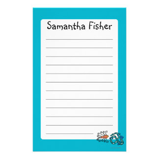 Colorful Illustrated Fish Friends Stationery