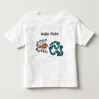 Colorful Illustrated Fish Friends Toddler T-Shirt