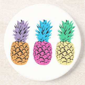 Colorful illustrated Pineapples Coaster