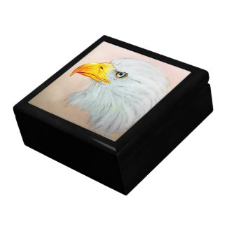 Colorful illustrated tile gift box - Eagle