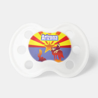 Colorful Illustration With Arizona State Flag Baby Pacifiers