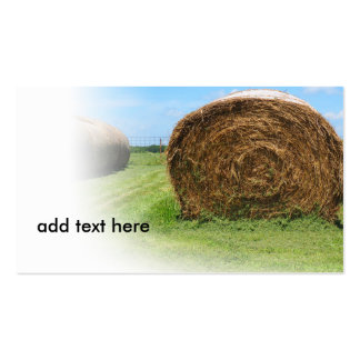 colorful image of a large round hay bale pack of standard business cards