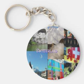 Colorful Images of Switzerland by Celeste Sheffey Basic Round Button Key Ring