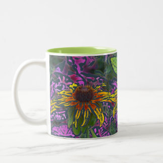 "Colorful ""Impressionistic""BrownEyedSusans Two-Tone Coffee Mug"