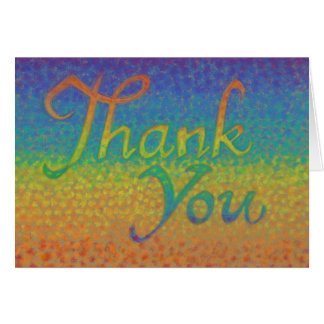 "Colorful Impressionistic ""Thank You"" card"