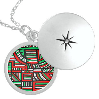 Colorful Incredible Fantastic Majestic Round Locket Necklace