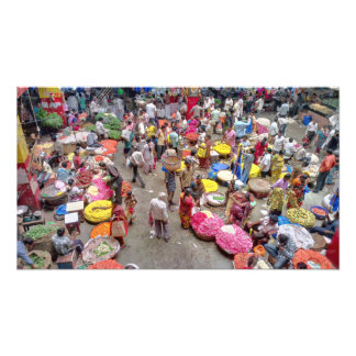 Colorful Indian Flower Market in Bangalore India Photo Print