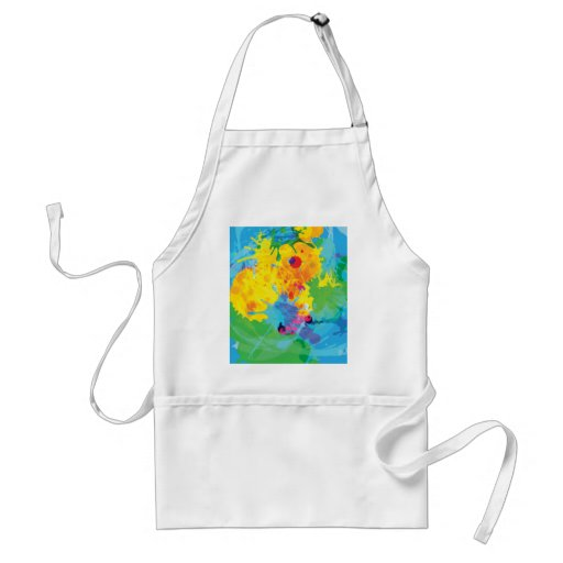 Colorful Ink Splashes Aprons