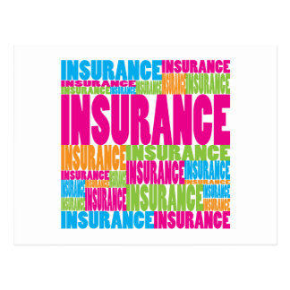 Colorful Insurance Postcard