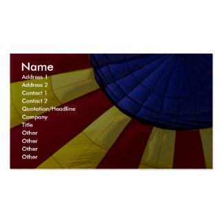 Colorful Interior design of inflated hot air ballo Pack Of Standard Business Cards