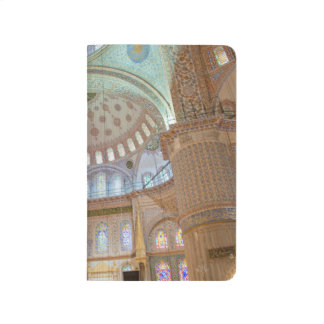 Colorful interior domed ceiling of Blue Mosque Journal