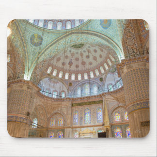 Colorful interior domed ceiling of Blue Mosque Mouse Mat