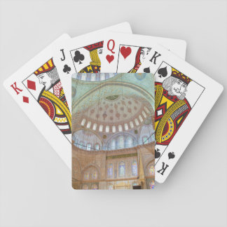 Colorful interior domed ceiling of Blue Mosque Playing Cards