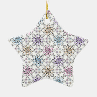 Colorful interlocking bicycle, wow! christmas tree ornaments